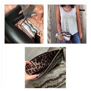 Stella & Dot Metallica Knit Clutch